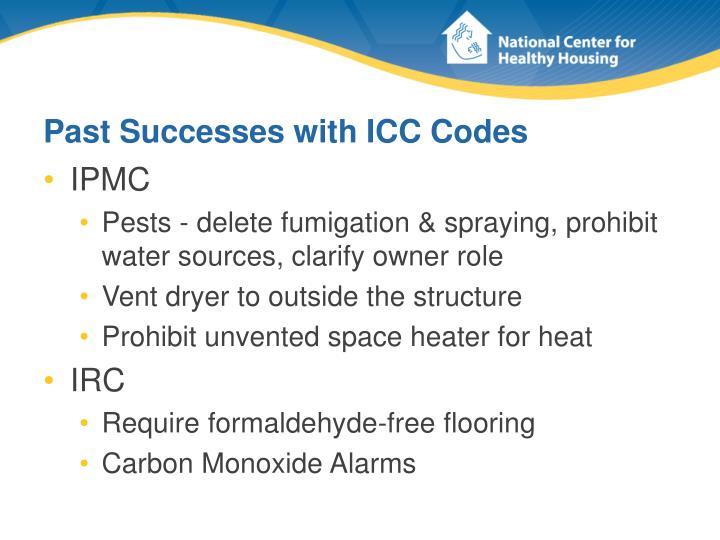 Past Successes with ICC Codes