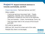 project 4 support technical seminars in colombo and kolkatta and dlp