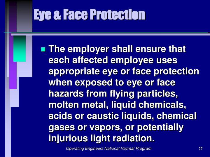 Eye & Face Protection