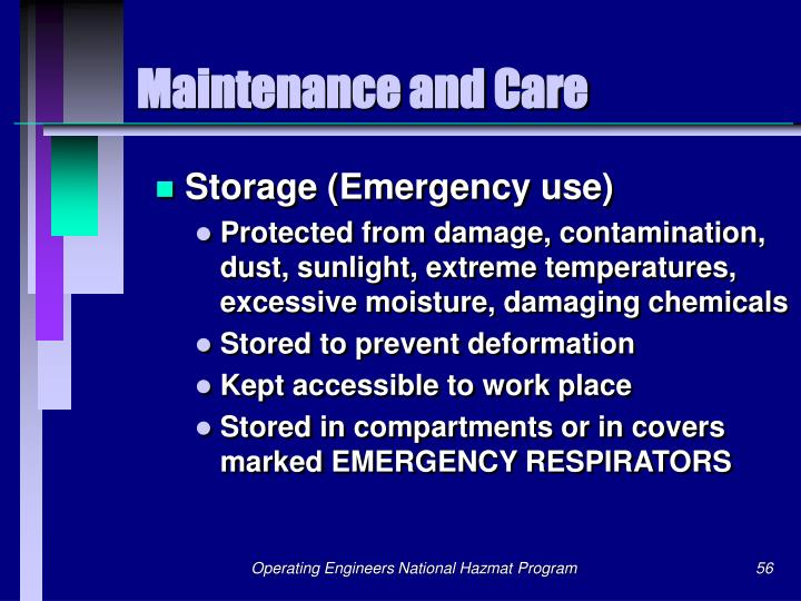 Maintenance and Care