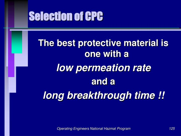 Selection of CPC