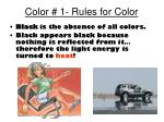 color 1 rules for color1
