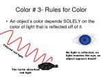 color 3 rules for color