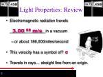 light properties review