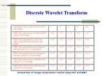 discrete wavelet transform25