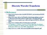 discrete wavelet transform33