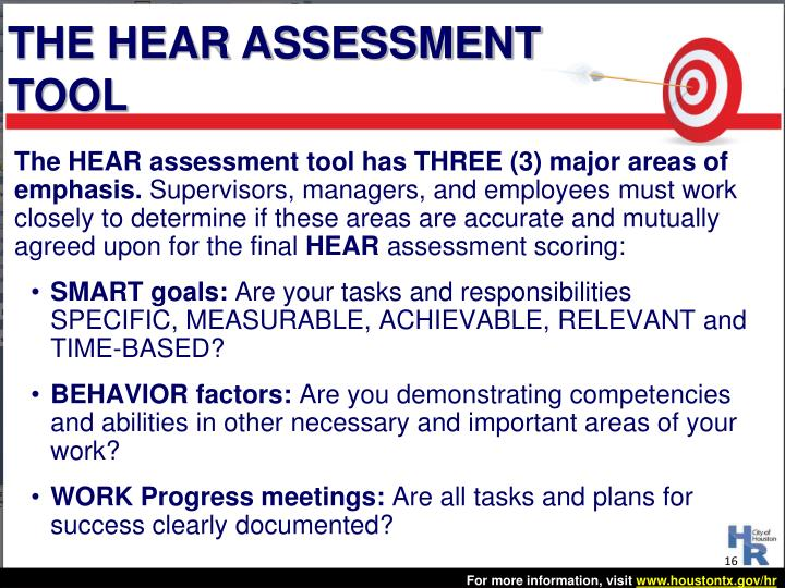 THE HEAR ASSESSMENT TOOL