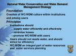 national water conservation and water demand management strategy