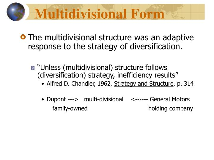 Multidivisional Form