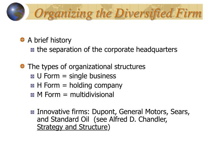 Organizing the Diversified Firm