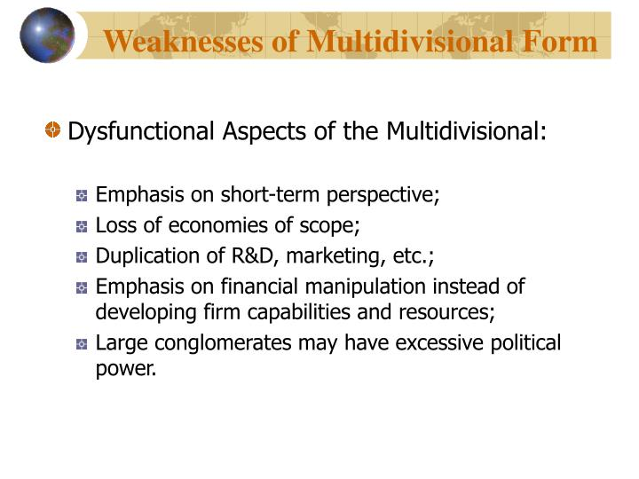 Weaknesses of Multidivisional Form