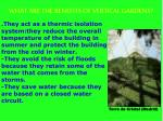 what are the benefits of vertical gardens