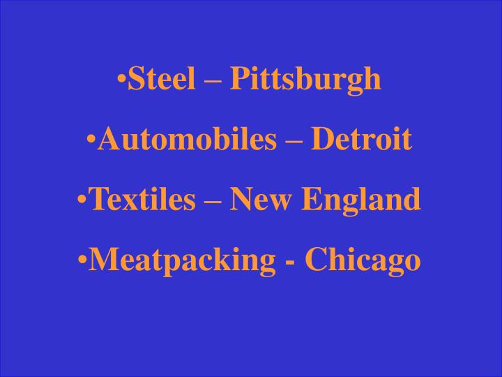 Steel – Pittsburgh