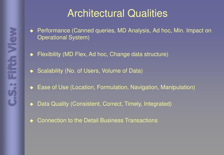Architectural Qualities