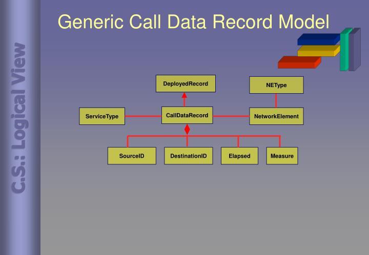 Generic Call Data Record Model