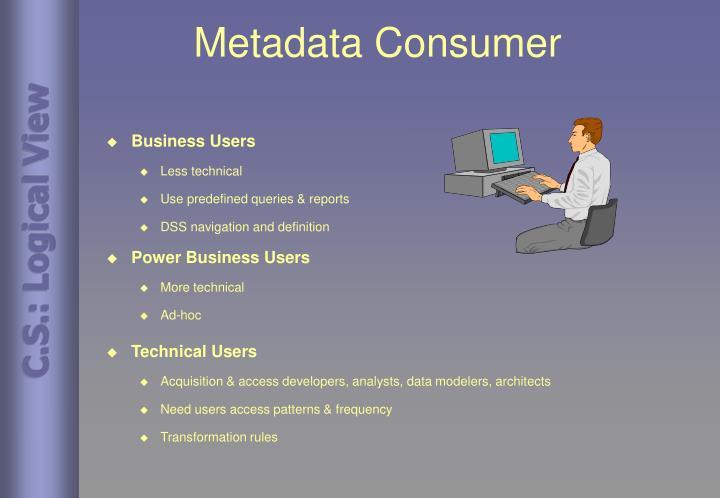 Metadata Consumer