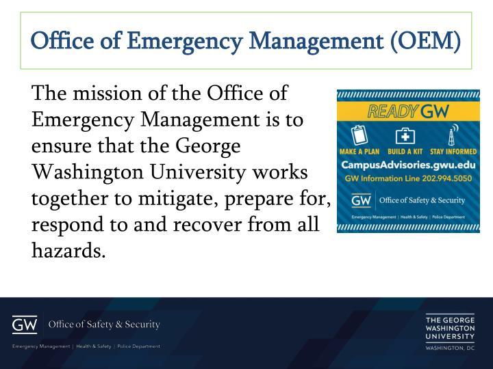 Office of Emergency Management (OEM)