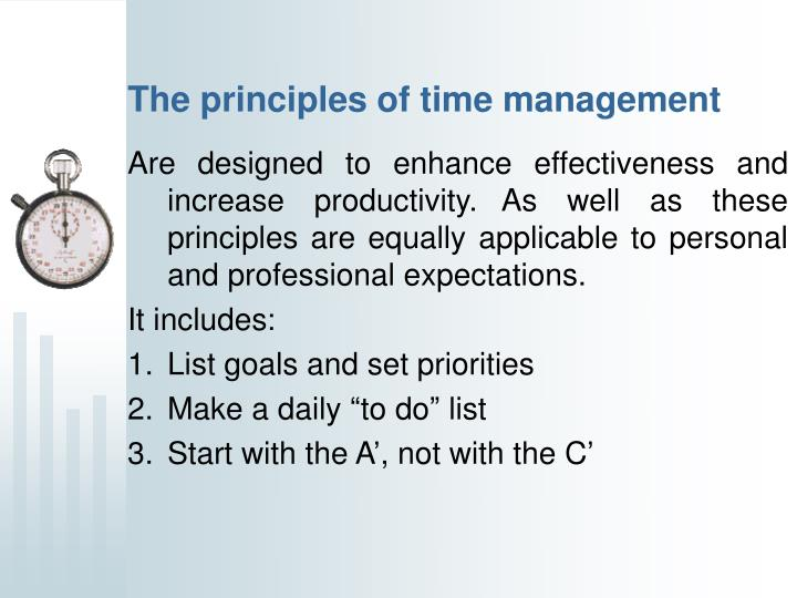 The principles of time management