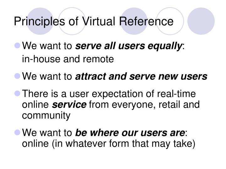 Principles of Virtual Reference
