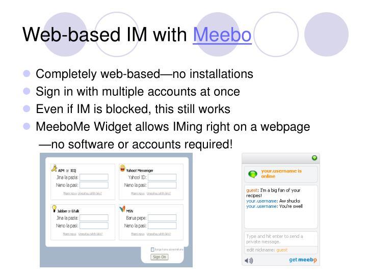 Web-based IM with