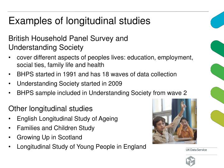 Examples of longitudinal studies