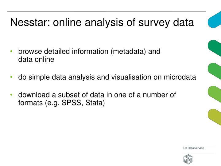 Nesstar: online analysis of survey data