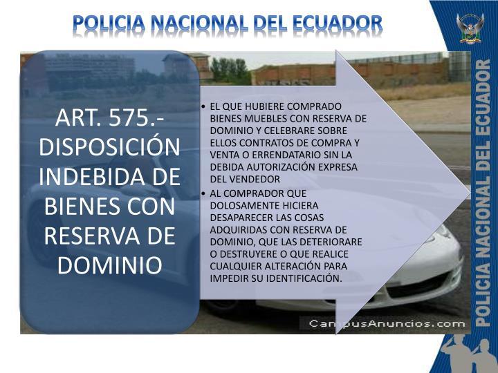 POLICIA NACIONAL DEL ECUADOR
