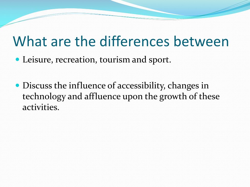Unit 3.3: leisure activities and tourism geography activity