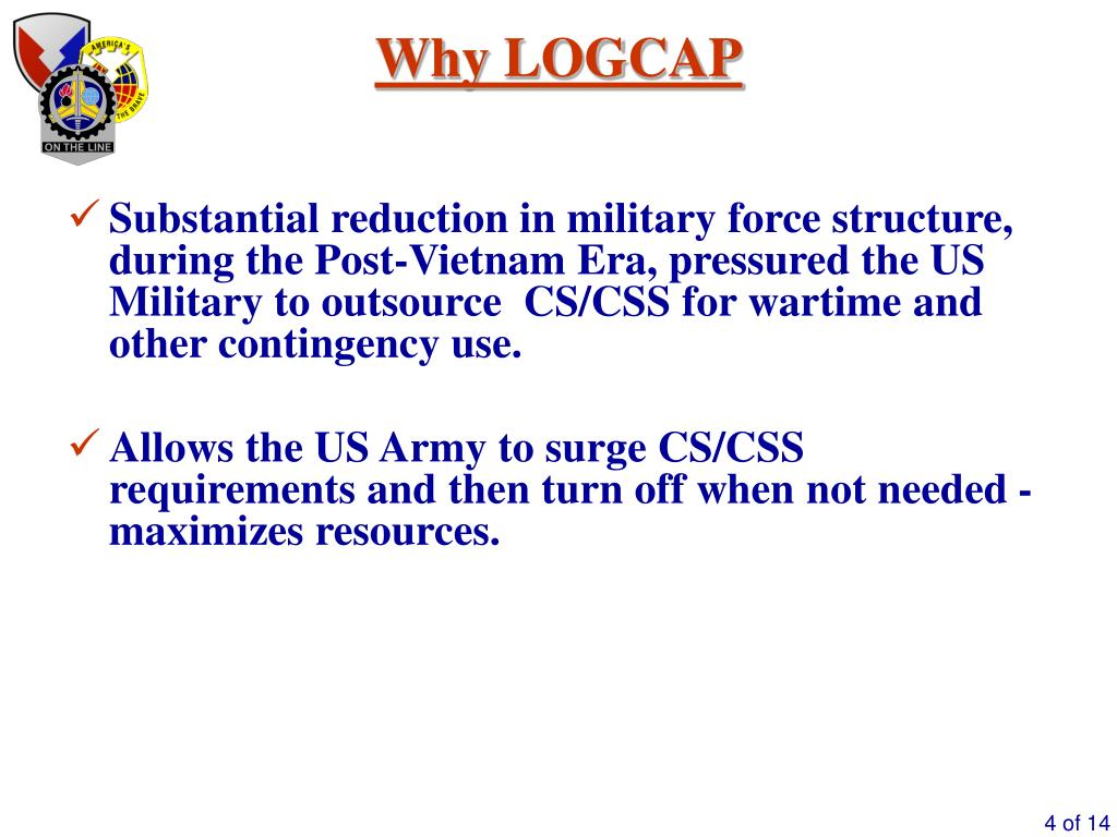 PPT - Logistics Civil Augmentation Program (LOGCAP) PowerPoint