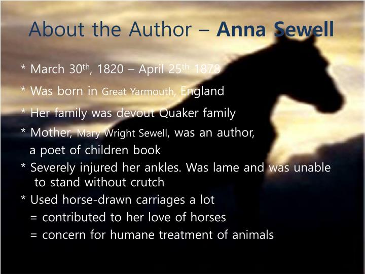 About the author anna sewell