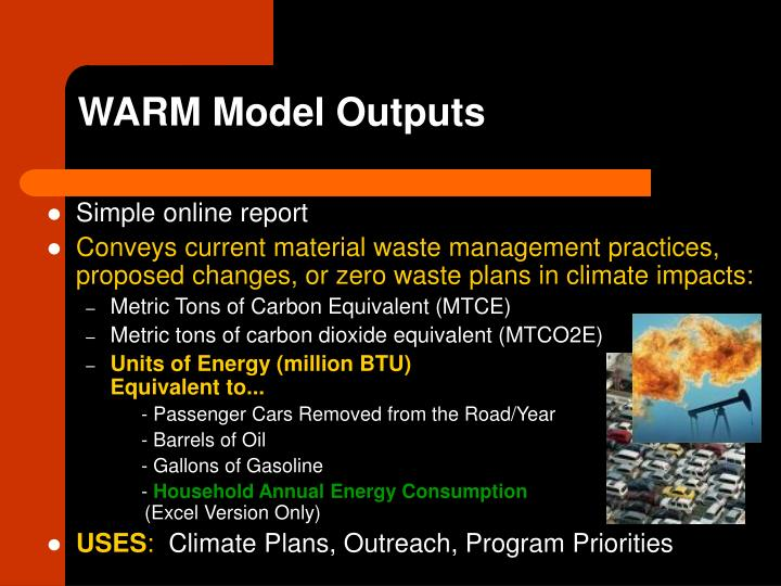 WARM Model Outputs