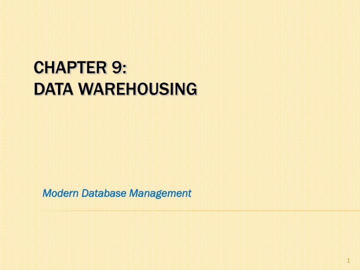 modern database management n.