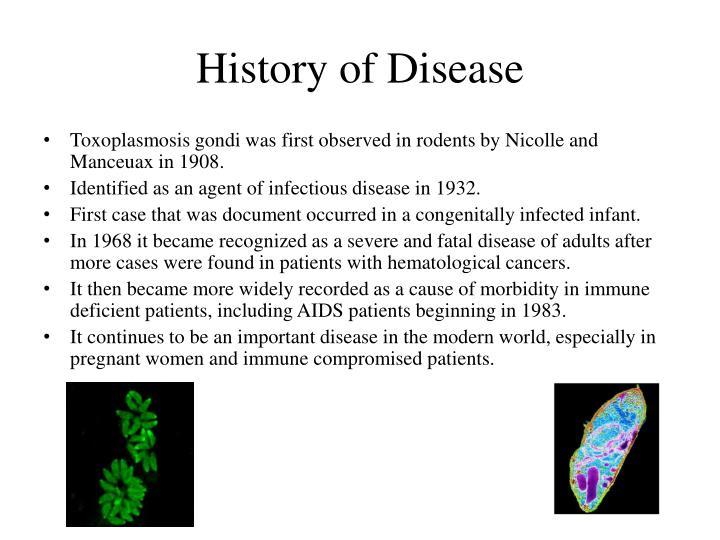 History of disease