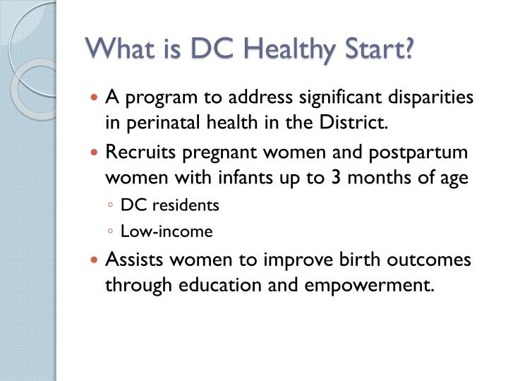What is dc healthy start