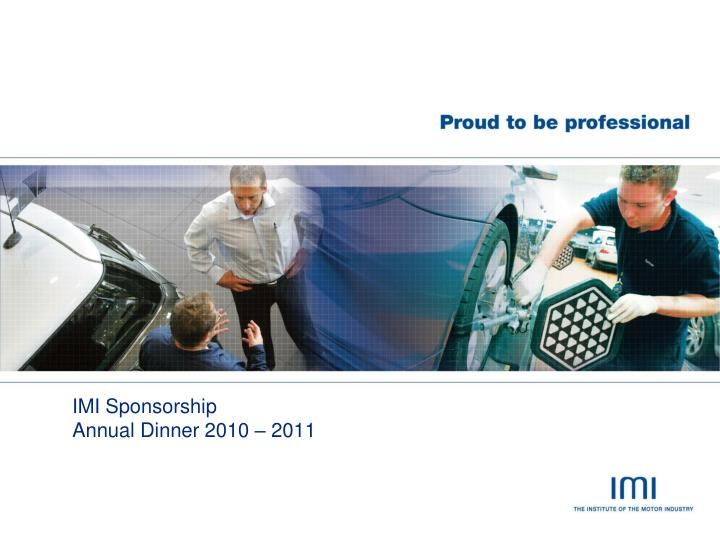 imi sponsorship annual dinner 2010 2011 n.