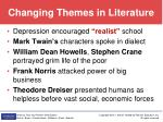 changing themes in literature