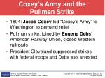 coxey s army and the pullman strike