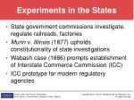 experiments in the states