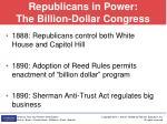 republicans in power the billion dollar congress