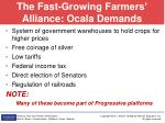 the fast growing farmers alliance ocala demands