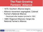 the fast growing farmers alliance