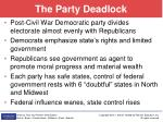 the party deadlock