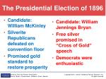 the presidential election of 1896