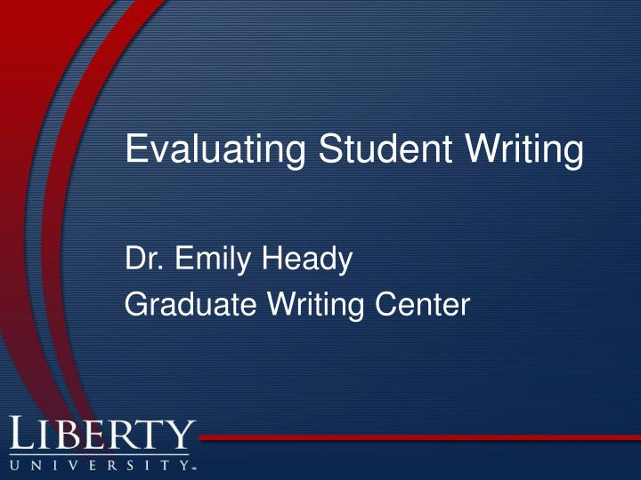 evaluating student writing n.