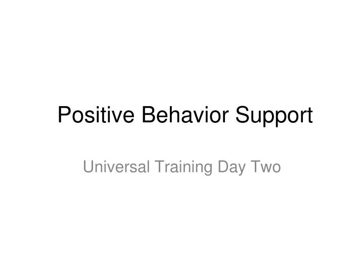 support positive behaviour outcome one Source: international journal of positive behavioural support, volume 7  discussion: the case study provides one example of using a positive behavioural support framework to target quality of life as an intervention and an outcome salient.