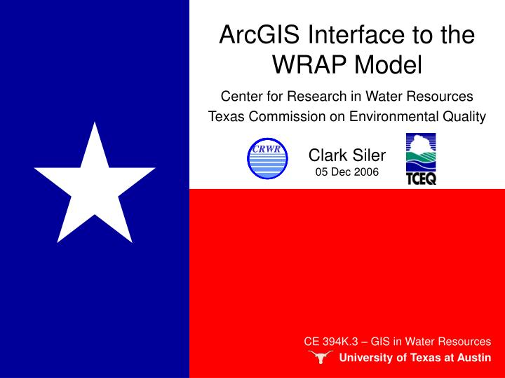 arcgis interface to the wrap model n.