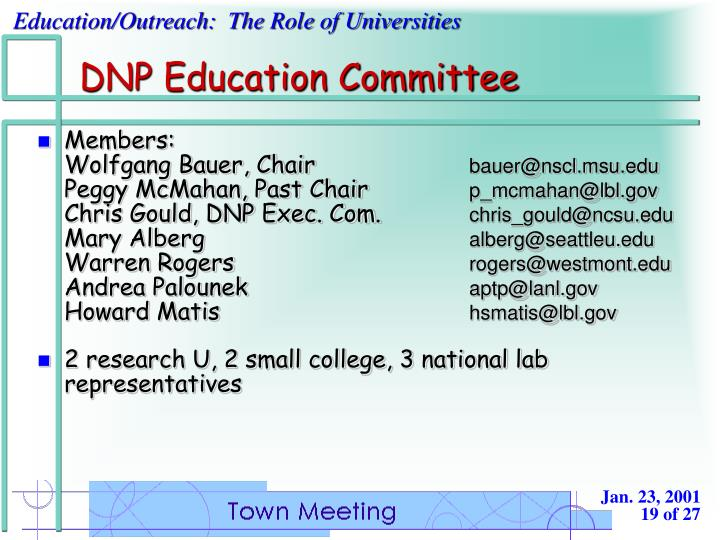 DNP Education Committee