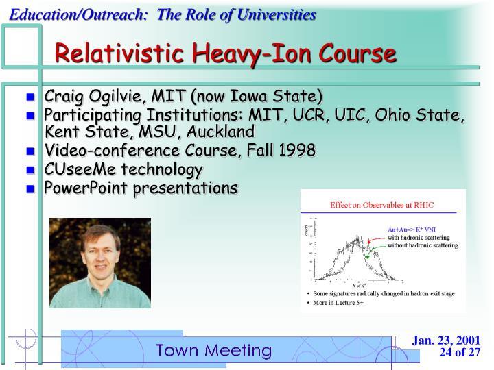 Relativistic Heavy-Ion Course