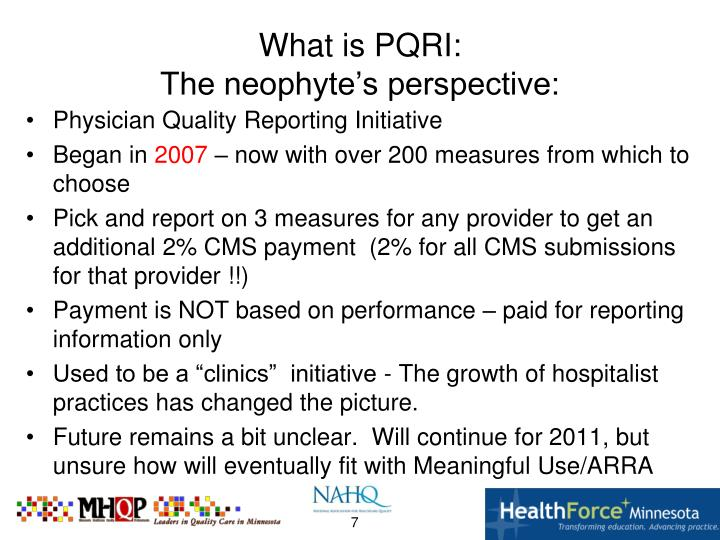 What is PQRI: