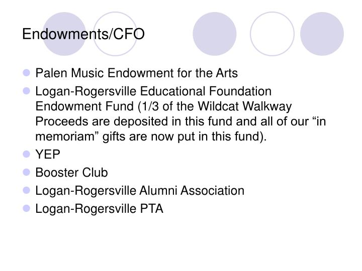 Endowments/CFO